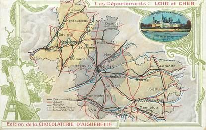 """/ CPA FRANCE 41 """"Loir et Cher"""" / CARTE GEOGRAPHIQUE"""
