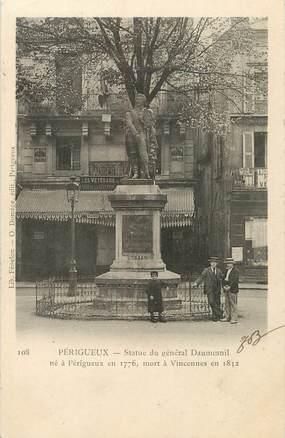 """/ CPA FRANCE 24 """"Périgueux, statue du général Daumesnil"""""""