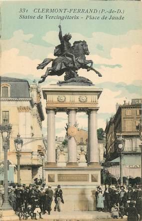"""CPA FRANCE 63 """"Clermont Ferrand, statue de Vercingétorix, Place de Jaude"""""""
