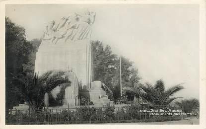 """CPSM ALGERIE """"Sidi Bel Abbes, monument aux morts"""""""