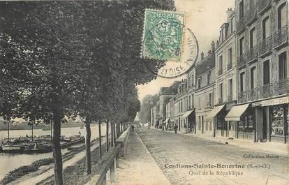 """/ CPA FRANCE 78 """"Conflans Sainte Honorine, quai de la République"""""""