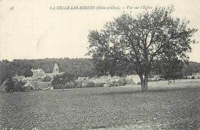 """/ CPA FRANCE 78 """"La celle Les Bordes, vue de l'église"""""""