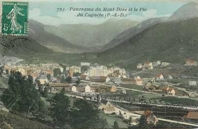 """CPA FRANCE 63 """"Panorama du Mont Dore et le Pic du Capucin"""""""