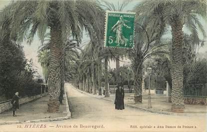 """CPA FRANCE 83 """"Hyères, avenue de Beauregard"""""""