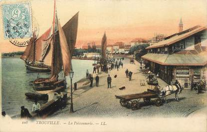 "CPA FRANCE 14 ""Trouville, la Poissonnerie"""