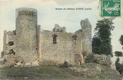 "CPA FRANCE 42 ""Ruines du Château d'Urfé"""