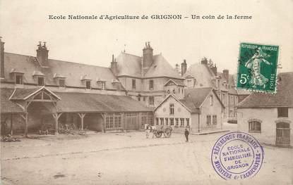 """/ CPA FRANCE 78 """"Ecole Nationale d'Agriculture de Grignon, un coin de la ferme"""""""