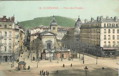 """CPA FRANCE 42 """"Saint Etienne, Place des Ursules"""""""