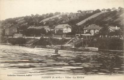 "/ CPA FRANCE 78 ""Juziers, villas, la rivière"""
