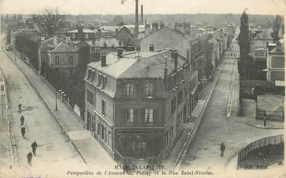 """/ CPA FRANCE 78 """"Maisons Laffitte, perspective de l'avenue de Poissy et la rue Saint Nicolas"""""""