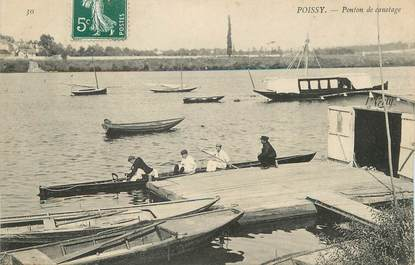 "/ CPA FRANCE 78 ""Poissy, ponton de Canotage"""