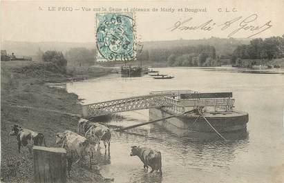 """/ CPA FRANCE 78 """"Le Pecq, vue sur la Seine et coteaux de Marly"""""""