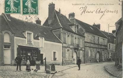 """/ CPA FRANCE 78 """"Saint Arnoult, carrefour du puits de la Grue"""""""