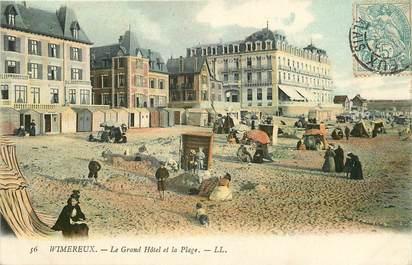 """CPA FRANCE 62 """"Wimereux, le Grand Hotel et la plage, Ed. L.L."""""""