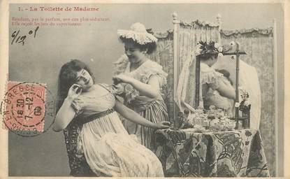 """CPA  BERGERET """"La Toilette de Madame"""""""