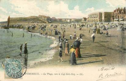 """CPA FRANCE 62 """"Wimereux, la plage vers le Cap Gris Nez"""""""
