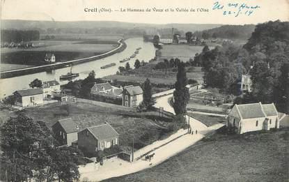 """/ CPA FRANCE 60 """"Creil, le hameau de Vaux et la vallée de l'Oise"""""""