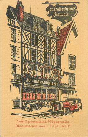 """/ CPA FRANCE 60 """"Beauvais, Au chateaubriand"""""""
