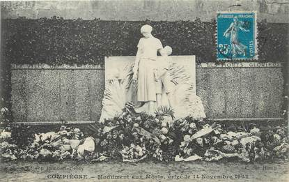 """/ CPA FRANCE 60 """"Compiègne, monument aux morts"""""""