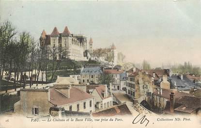 """CPA FRANCE 64 """"Pau, le chateau et la basse ville"""""""