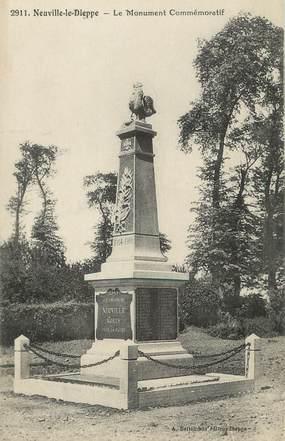 """/ CPA FRANCE 76 """"Neuville les Dieppe, Le monument commémoratif"""""""