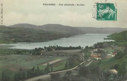 """CPA FRANCE 38 """"Paladru, vue générale et le lac"""""""