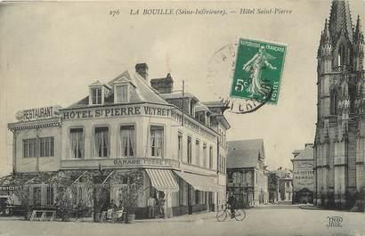 """/ CPA FRANCE 76 """"La Bouille, hôtel Saint Pierre"""""""