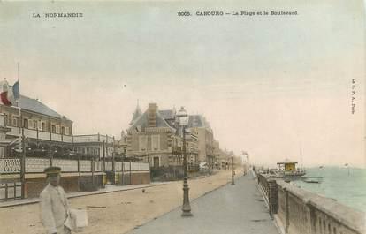 """CPA FRANCE 14 """"Cabourg, la plage et le boulevard"""""""