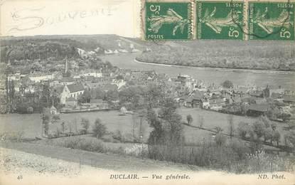 """/ CPA FRANCE 76 """"Duclair, vue générale"""""""