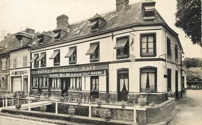 """/ CPSM FRANCE 76 """"Clères, hôtel du cheval Noir"""""""