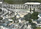 """76 Seine Maritime / CPSM FRANCE 76 """"Barentin, le pont route et le Viaduc"""""""