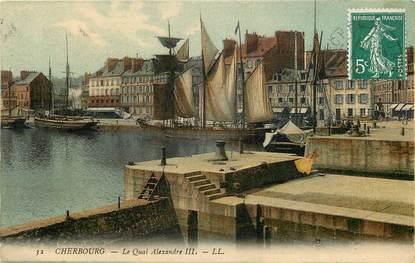 "CPA FRANCE 50 ""Cherbourg, le quai Alexandre III"""