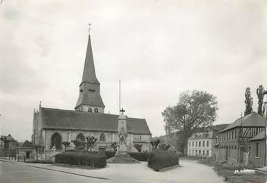 """/ CPSM FRANCE 76 """"Duclair, l'église et le monument aux morts """""""