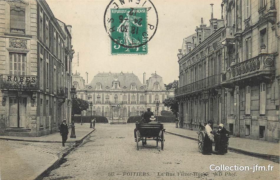 Cpa france 86 poitiers la rue victor hugo 86 vienne for Vienne poitiers