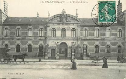 """/ CPA FRANCE 50 """"Cherbourg, l'hôtel Dieu"""""""