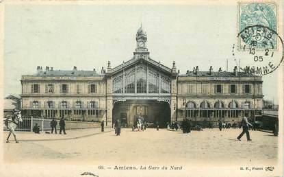 """CPA FRANCE 80 """"Amiens, la gare"""""""