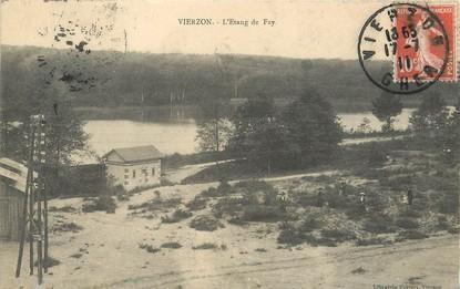"/ CPA FRANCE 18 ""Vierzon, l'étang de Fay"""