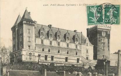 "/ CPA FRANCE 64 ""Pau, le château"""