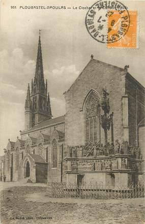 """/ CPA FRANCE 29 """"Plougastel Daoulas, le clocher et le calvaire"""""""