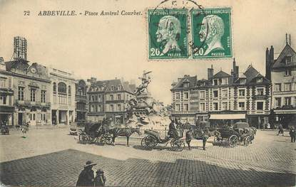 "/ CPA FRANCE 80 ""Abbeville, place Amiral Courbet"""