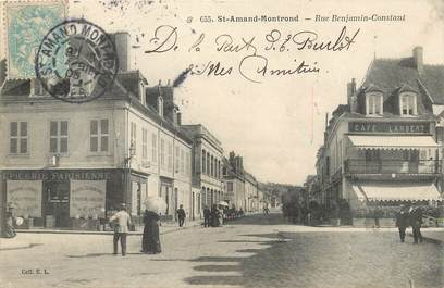 "/ CPA FRANCE 18 ""Saint Amand Montrond, rue Benjamin Constant """