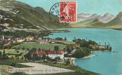 """/ CPA FRANCE 74 """"Lac d'Annecy, talloires et le petit lac"""""""