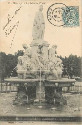 """/ CPA FRANCE 30 """"Nîmes, la fontaine du Pradier"""""""