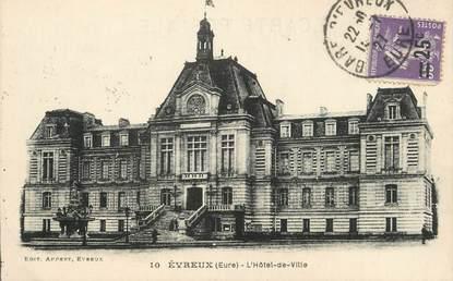 """/ CPA FRANCE 27 """"Evreux, l'hôtel de ville"""""""