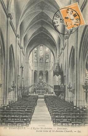 """/ CPA FRANCE 60 """"Compiègne, l'église Saint Antoine"""""""