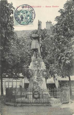 """/ CPA FRANCE 25 """"Montbéliard, statue Denfert"""""""