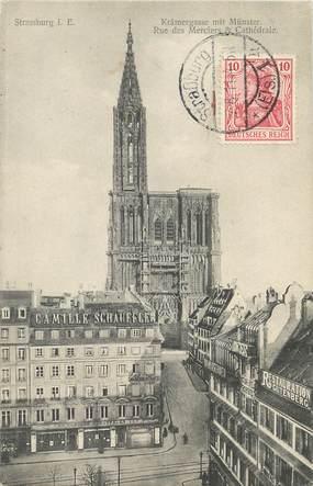 """/ CPA FRANCE 67 """"Strasbourg, rue des Merciers et cathédrale"""""""