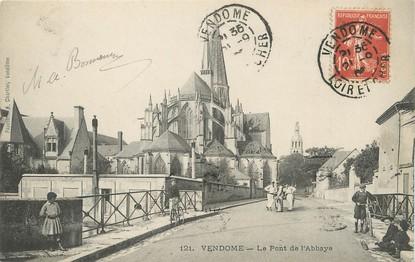 """/ CPA FRANCE 41 """"Vendôme, le pont de l'abbaye"""""""