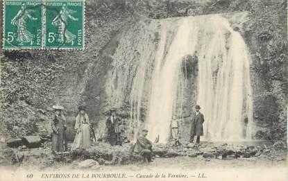 """/ CPA FRANCE 63 """"Environs de la Bourboule, cascade de la Vernière"""""""