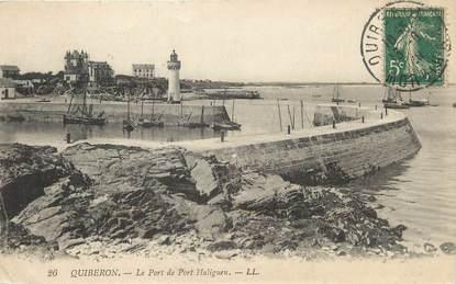 """/ CPA FRANCE 56 """"Quiberon, le port de Port Haliguen"""""""